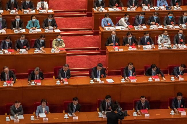 中國第13屆全國人大會議表決通過「港版國安法」草案。(Getty Images)