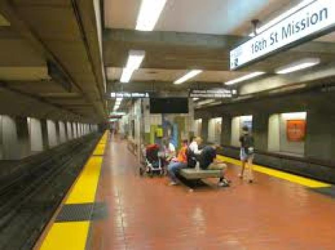 位於舊金山16街的米慎捷運車站。(Getty Images)