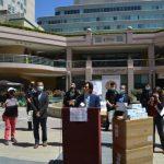 屋崙華埠商會等亞裔組織 買午餐口罩送一線急救人員