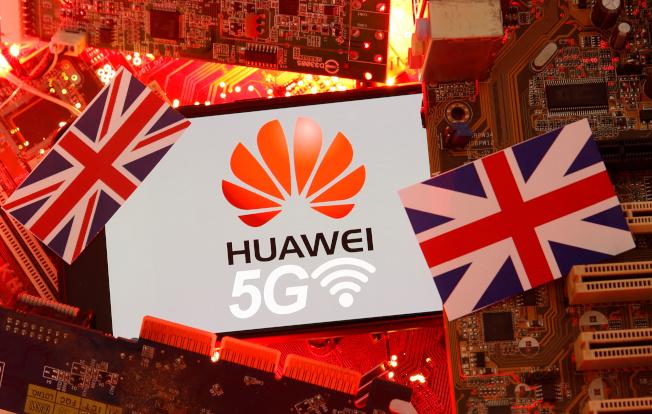 英國提議由10個民主國家籌組5G聯盟,目標在減少依賴中國大陸5G技術。(路透)