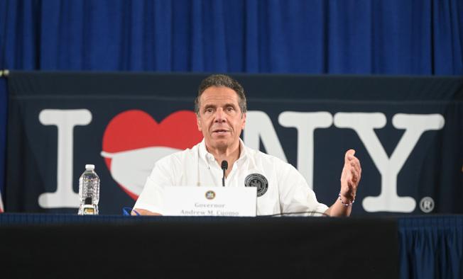 葛謨宣布州內五大地區進入復工第二階段。(州長辦公室提供)