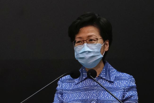 香港特首林鄭月娥呼籲香港市民支持港版國安法。(路透)