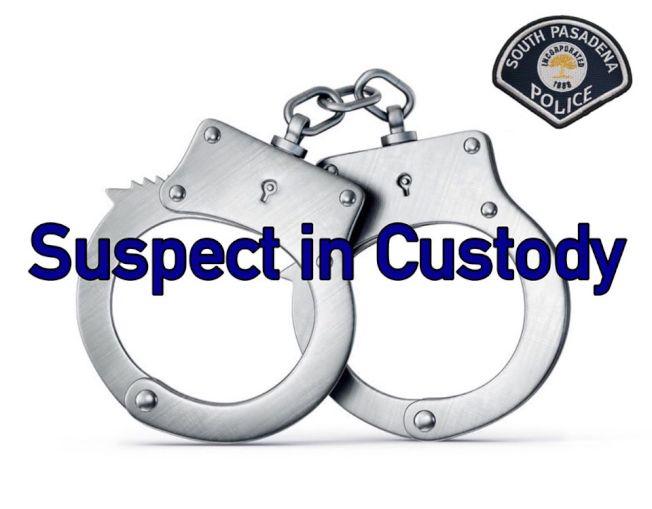 南巴沙迪那市State Street 1800號街區,25日發生劫車未遂,嫌犯被捕。(南巴市警局提供)