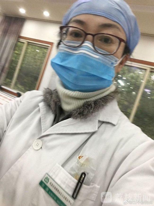 沈蓓連續在抗疫前線工作40多天後昏迷。(取材自澎湃新聞)