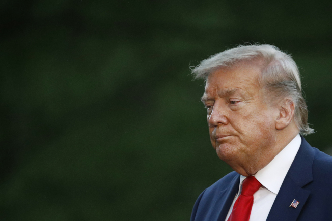 川普總統31日表示將明定極左暴力組織Antifa為國內恐怖組織。(美聯社)