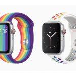 同志驕傲月 蘋果推2款新Apple Watch彩虹版運動型表帶
