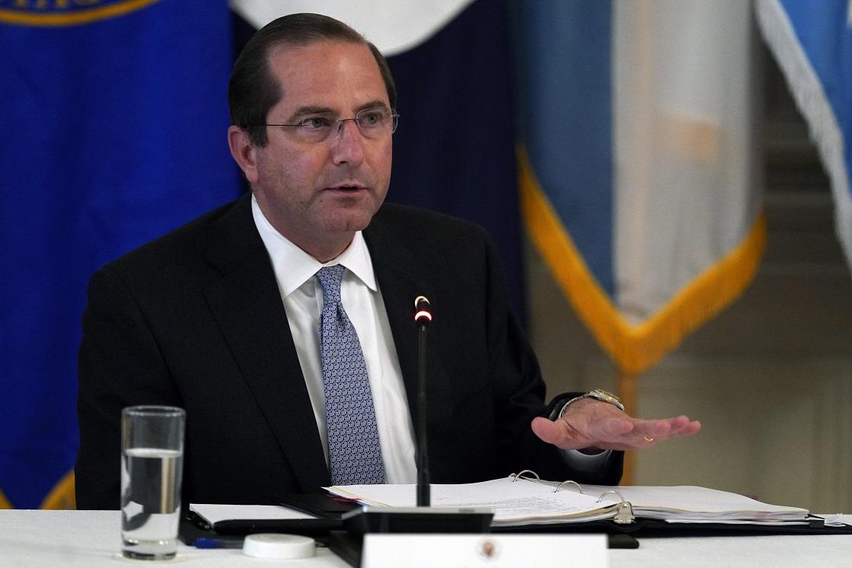 美國衛生部網站與台灣衛福部首度同步發表聲明譴責WHO,圖為美國衛生部長阿查爾。(美聯社)