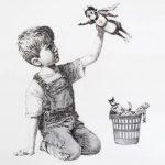英塗鴉藝術家班克西致敬抗疫人員 護士化身超級英雄