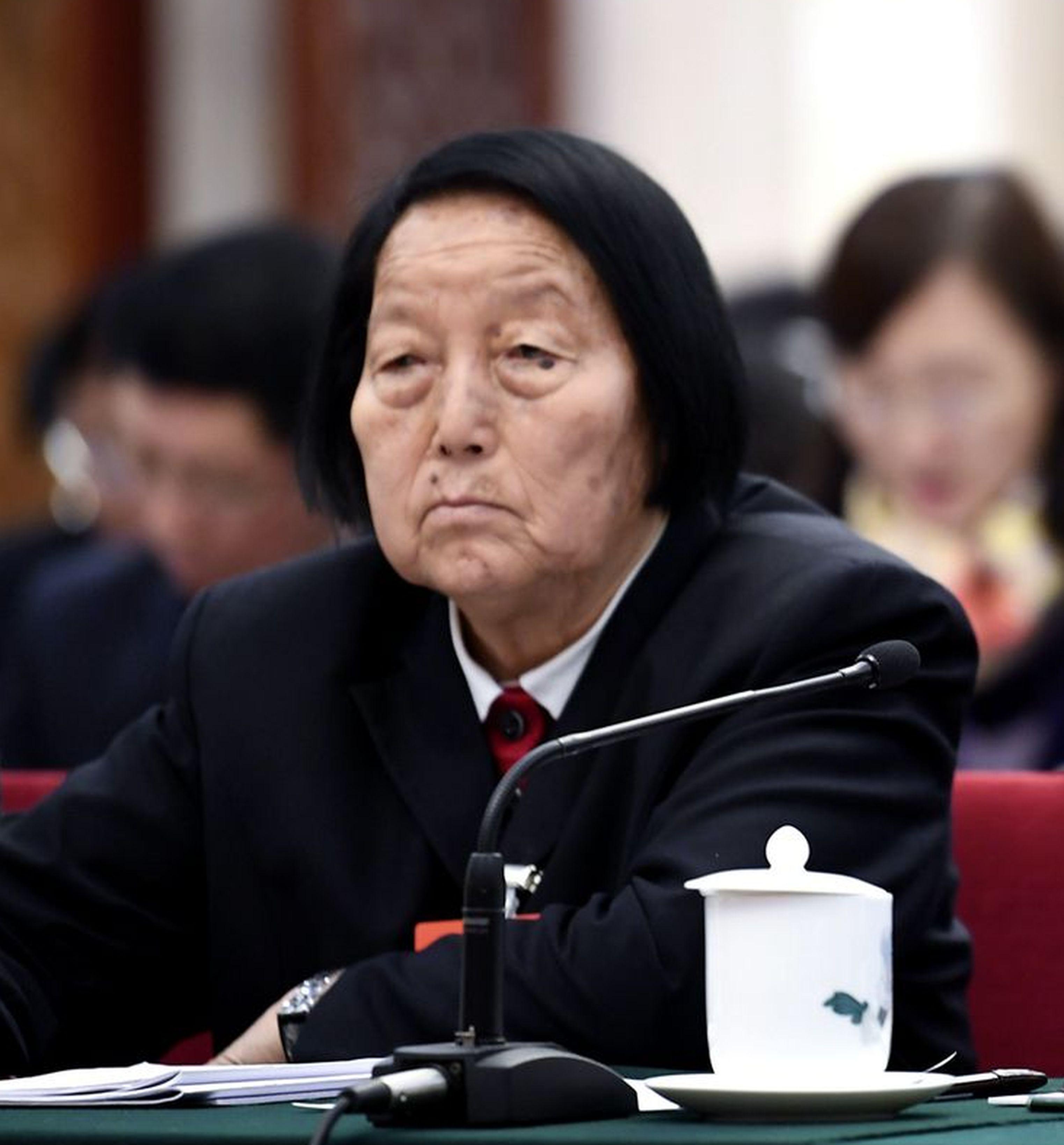 中國全國人大代表申紀蘭。(新華社資料照)