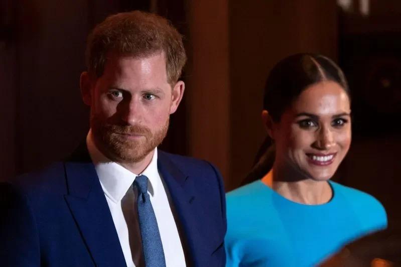 英國哈利王子和夫人梅根。Getty Images