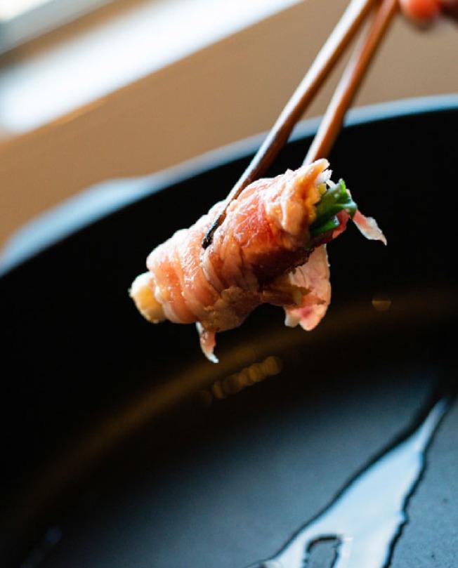 香蔥燒肉卷。(圖:親子天下提供)