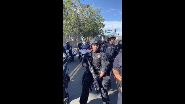 聖荷西華裔警辱罵抗議者犯眾怒 警局忙消毒