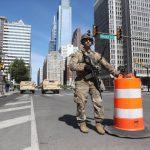 費城示威升溫 國民兵協防 新州首府也動亂