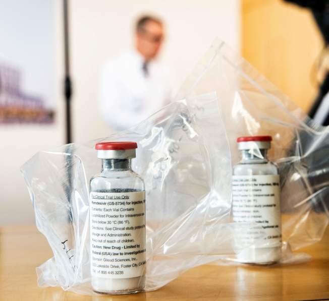 吉利德公司開發治療新冠病毒的新藥瑞德西韋,1日表示第三期臨床試驗遇到挫折。(Getty Images)