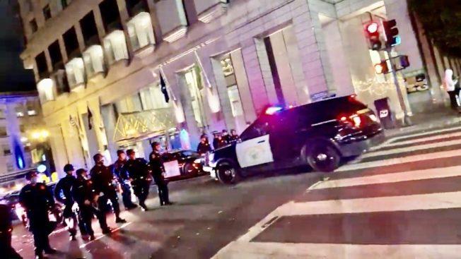金山暴力示威 警方逮120人