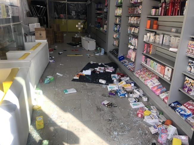 中國街大藥房處方藥被洗劫。(記者張晨╱攝影)
