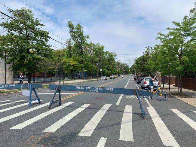 貝瑞吉開放街道的使用率不高。(記者黃伊奕/攝影)