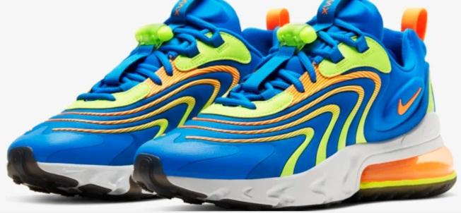 NIKE AIR MAX 270 REACT 藍色新款(Nike圖片)