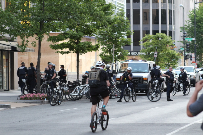 大量警力在白宮附近戒備。(記者張筠 / 攝影)