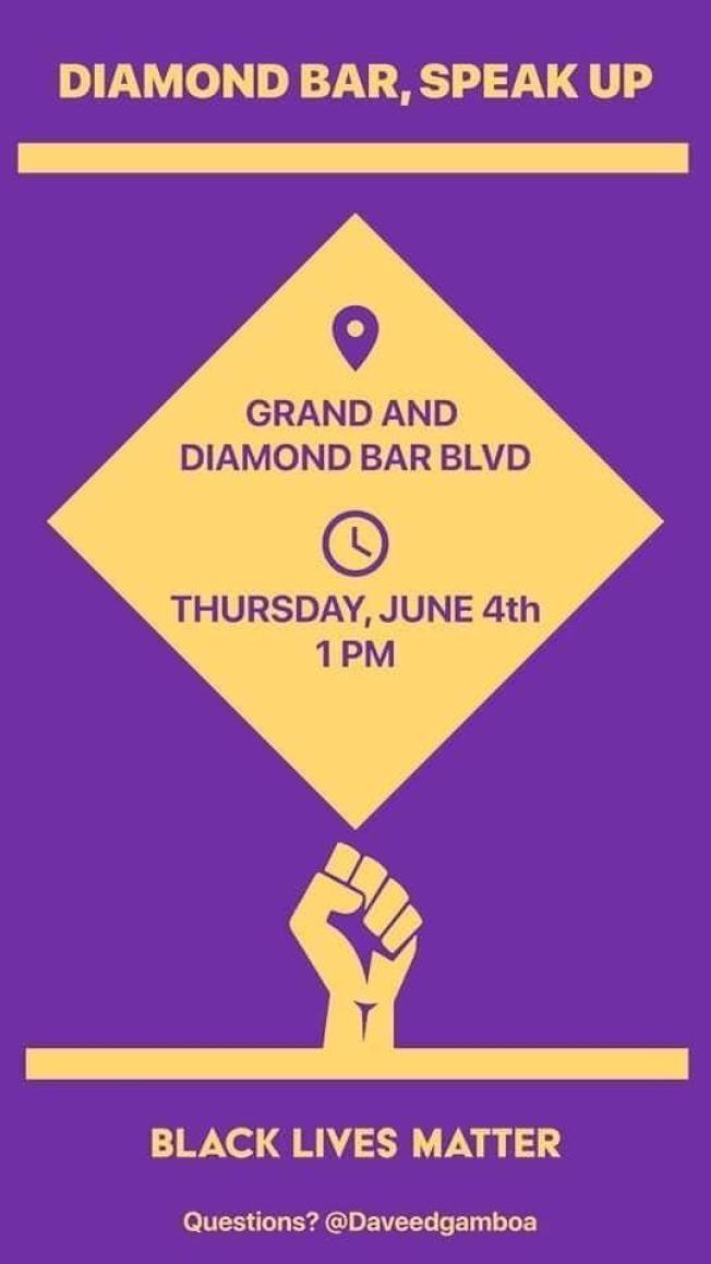 鑽石吧4日舉辦遊行示威。(社群媒體下載)