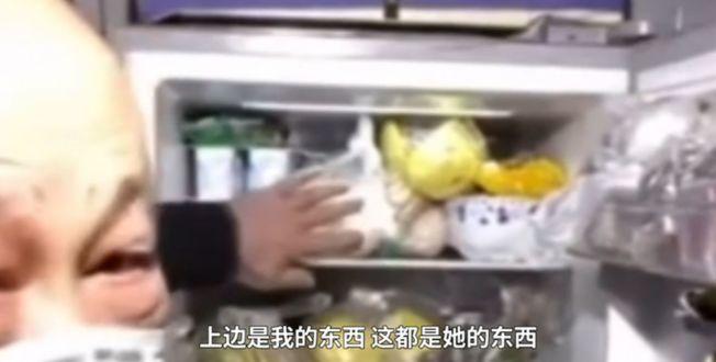 冰箱裡的食物涇渭分明。(取材自北晚新視覺)