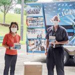 资深房地产经纪人卢辉汶展爱心捐赠Doraville和Chamblee警局口罩 保护警察健康