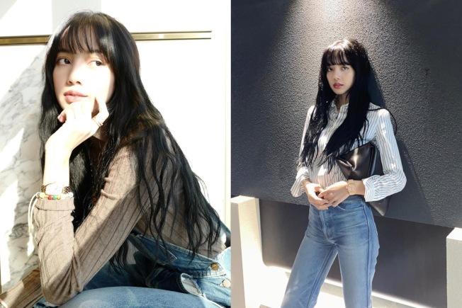 LISA的長髮超像洋娃娃。圖/摘自IG