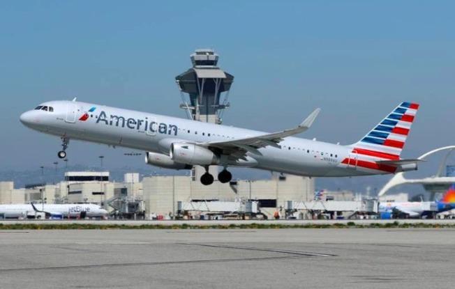 準備從經濟復甦中受惠的股票普遍上漲。美國航空、達美航空和聯合航空均上漲了5.6%以上。圖為美國航空。(路透)