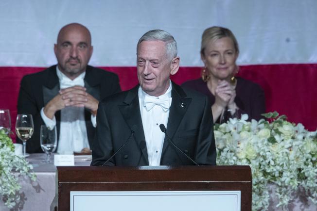 美國國防部長前部長馬提斯。美聯社