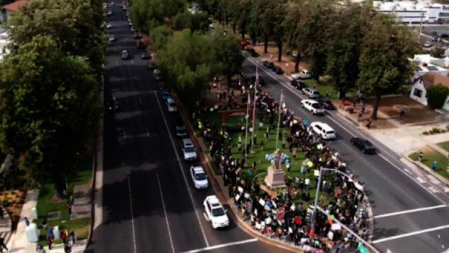 抗議活動出現反對派恐進一步升級。(Upland警局推特)