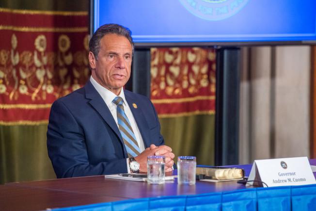 紐約州長葛謨3日宣布,已進入第二階段復工的的地區可從4日起允許餐館在室外營業。(州長辦公室提供)