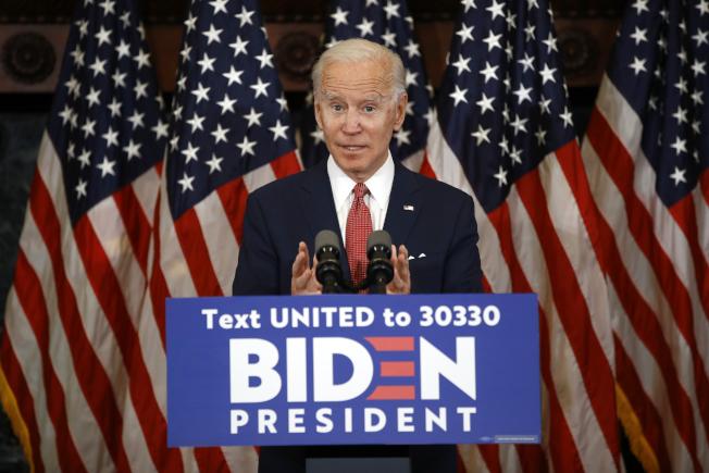 民主黨總統候選人白登(Joe Biden)。(美聯社)