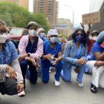 紐約六醫院醫護人員和平抗議 單膝下跪8分46秒