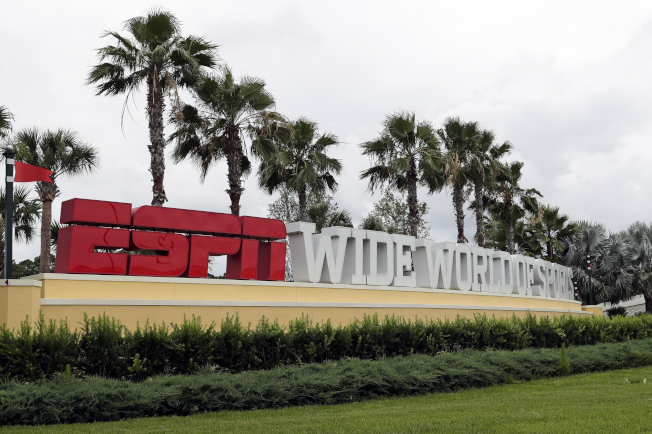 圖為位於佛州的ESPN體育大世界園區(ESPN Wide World of Sports Complex)。(美聯社)