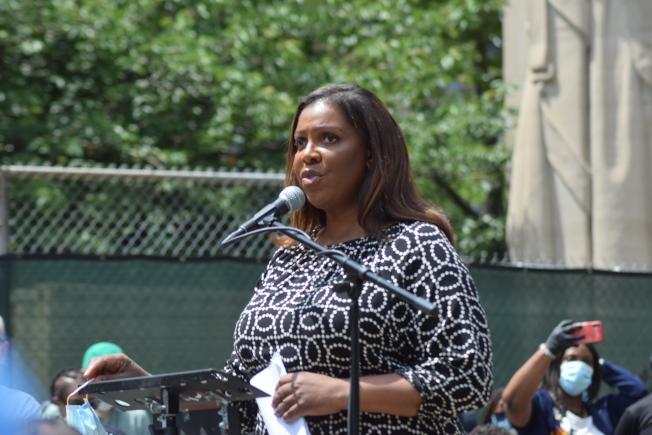 州檢察長詹樂霞(Letitia James)表示年輕人是推動美國改變的重要力量。(記者顏潔恩/攝影)