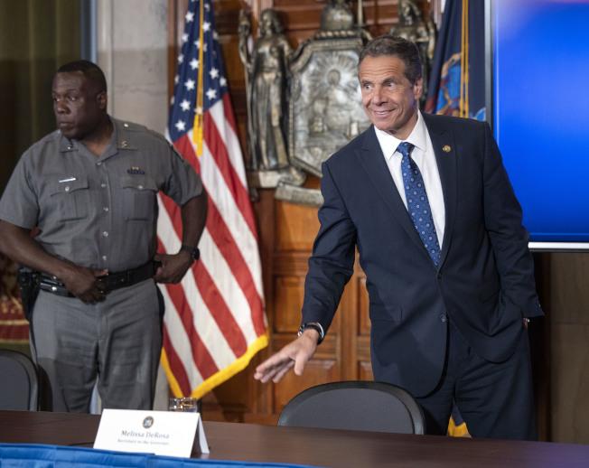紐約州長葛謨(右)。(州長辦公室提供)