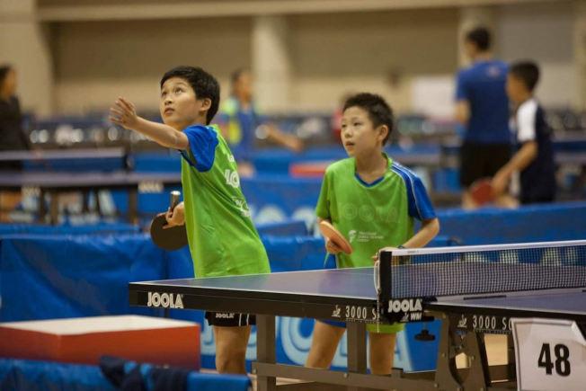 馬里蘭乒乓球中心是美東、乃至全國最強勁的青少年乒乓球訓練基地之一。(圖:王晴亮提供)