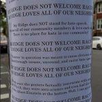貝瑞吉貼挺華海報:讓仇恨無立足之地