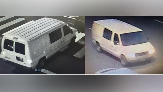 FBI呼籲公眾協助找尋這輛白色廂型車,上周五(29日)晚上開槍射殺一名聯邦保護局警衛的嫌犯做案時,使用了這輛車。(屋崙警察局)