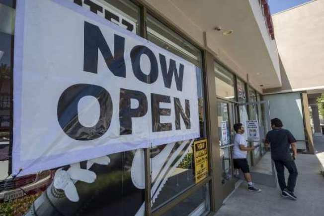 加州已有部分行業重啟,12日會有包括健身房等在內更多的行業營業。(Getty Images)
