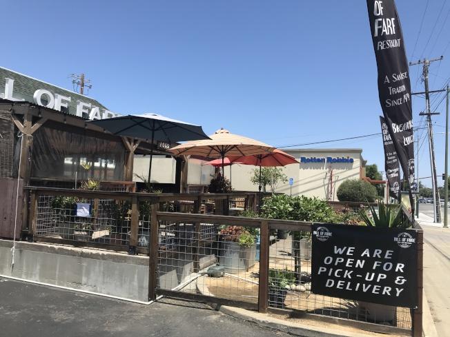 矽谷逾40年的早午餐店Bill of Fare已成了當地地標。(記者江碩涵/攝影)