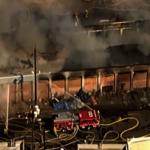 煤氣罐爆炸引洛市中心大火 百餘消防員出動滅火