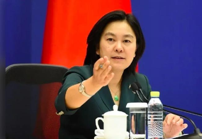 中國外交部發言人華春瑩。(中新社)
