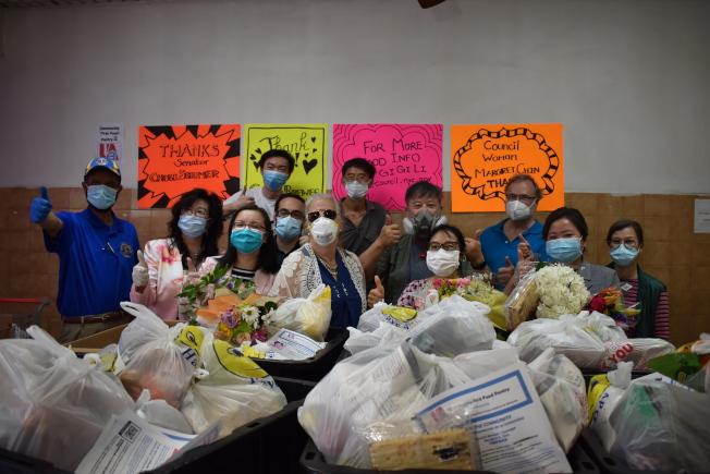 UA3與民選官員合作,11日在曼哈頓下東城設立「社區優先食儲」。(記者顏嘉瑩/攝影)