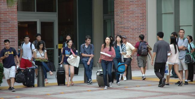 目前洛杉磯加州大學以亞裔和白人占大多數,如果ACA-5通過,現狀將打破。(記者丁曙/攝影)