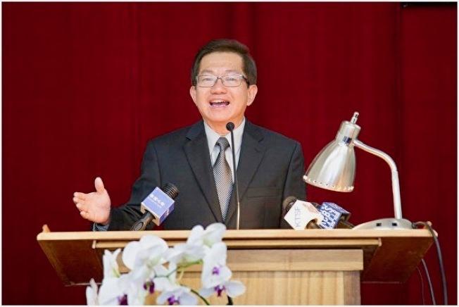 加州抵制ACA-5聯盟共同創辦人李少敏在記者會發言。(本報檔案照)