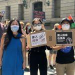 〈圖輯〉「六月節」示威掀新高潮 紐約曼哈頓下城3小時6場逾萬人