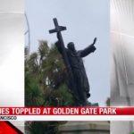 金門公園傳教士雕像毀了 金山大主教怒了