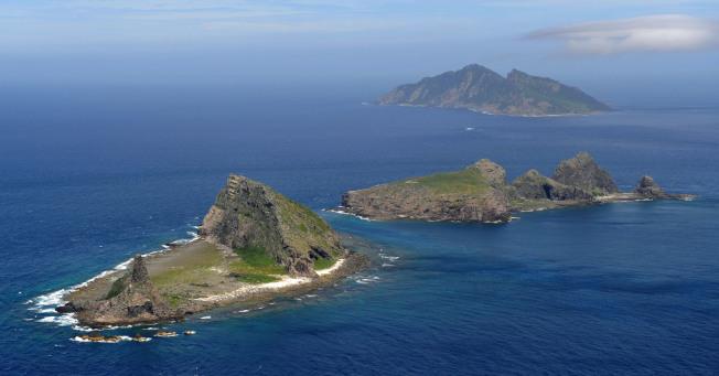 位於台灣北方海域的釣魚台島。(美聯社)