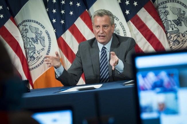 市長白思豪表示紐約重啟一切順利,有望在7月6日進入第三階段。(市長辦公室提供)